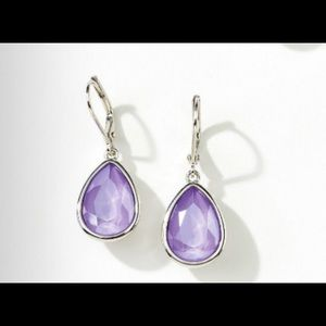 Touchstone Crystal lilac drop earrings BNIB